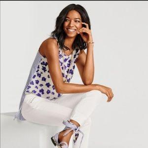 cabi | Women's Hi-lo tunic floral/stripe tank top